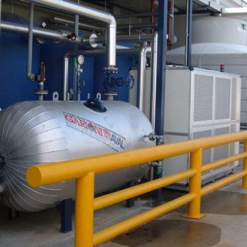 Impianto riscaldamento/raffreddamento Turboemulsori